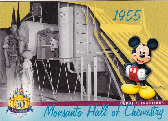 2005 Upper Deck Disneyland 50th Anniversary card DL-16 Monsanto Hall Of Chemistry
