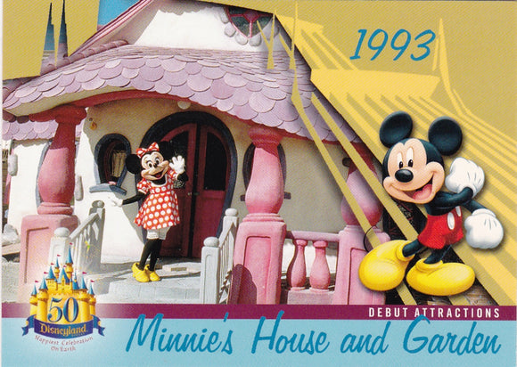 2005 Upper Deck Disneyland 50th Anniversary card DL-46 Minnie's House