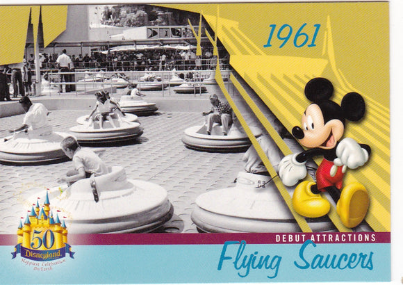 2005 Upper Deck Disneyland 50th Anniversary card DL-44 Flying Saucers