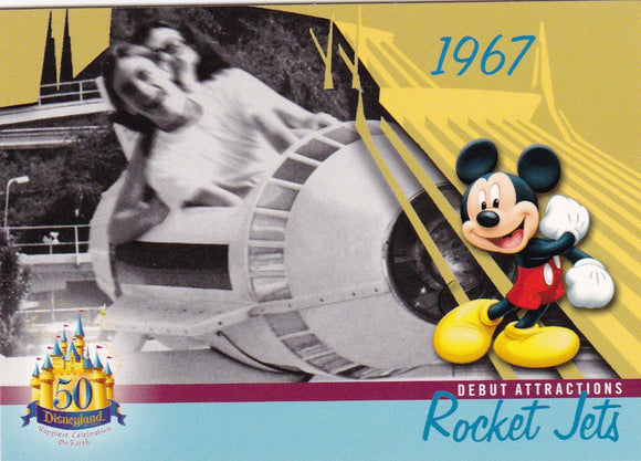 2005 Upper Deck Disneyland 50th Anniversary card DL-36 Rocket Jets