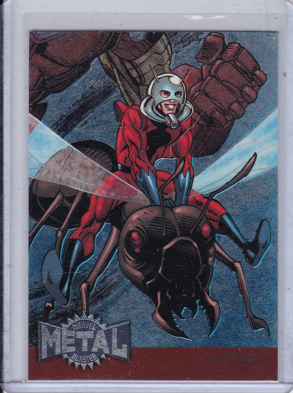 2015 Marvel Fleer Retro 1995 Marvel Metal Blaster card 1 Ant-Man