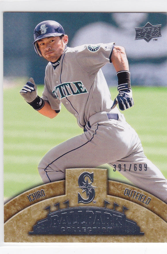 2009 Upper Deck Ballpark Collection card #34 Ichiro #d 391/699