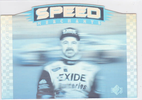Geoff Bodine 1995 Upper Deck SP Speed Merchants Die Cut card SM7
