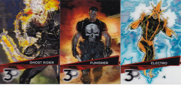 2015 Upper Deck Marvel 3D - 3D Variant cards Choose Your Number From The List