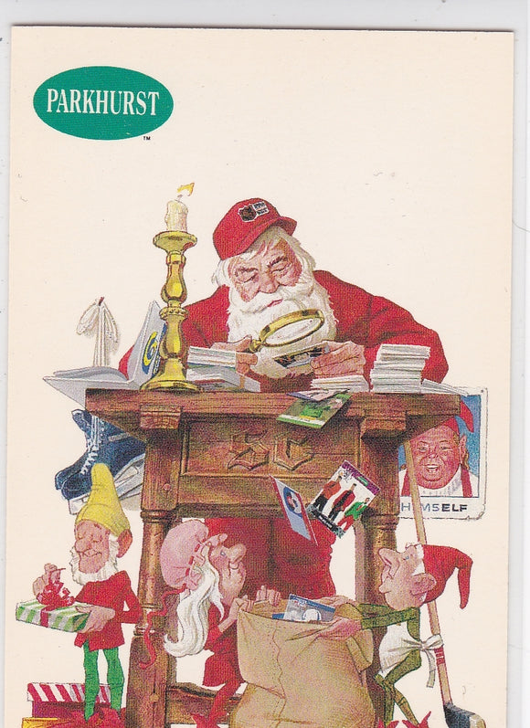 1991-92 Parkhurst Hockey Santa Claus card