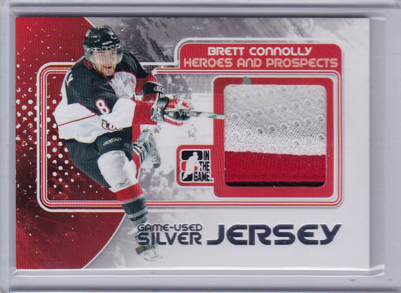 Brett Connolly 2010-11 ITG Heroes and Prospects Game Used Jersey card M-05 Silver