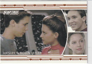 2013 Star Trek Next Generation Heroes and Villains Romance L13 Wesley & Robin