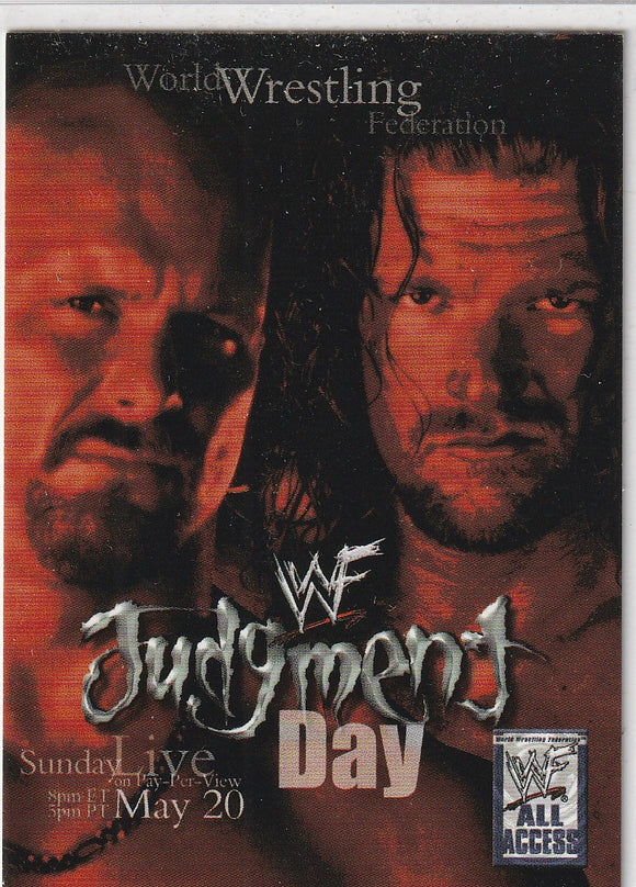 2002 Fleer WWF All Access Pay Per View Poster 3 of 10 PPV Judgment Day - May 20, 2001