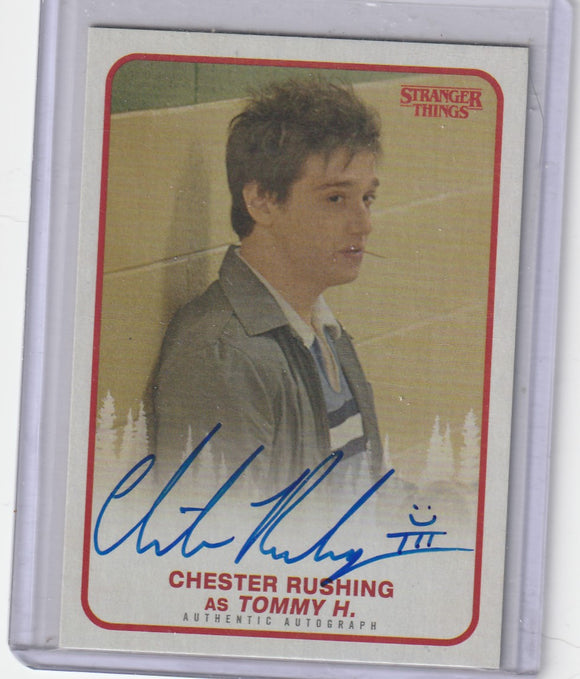 Stranger Things Season 1 Chester Rushing as Tommy H. Autograph card A-TH