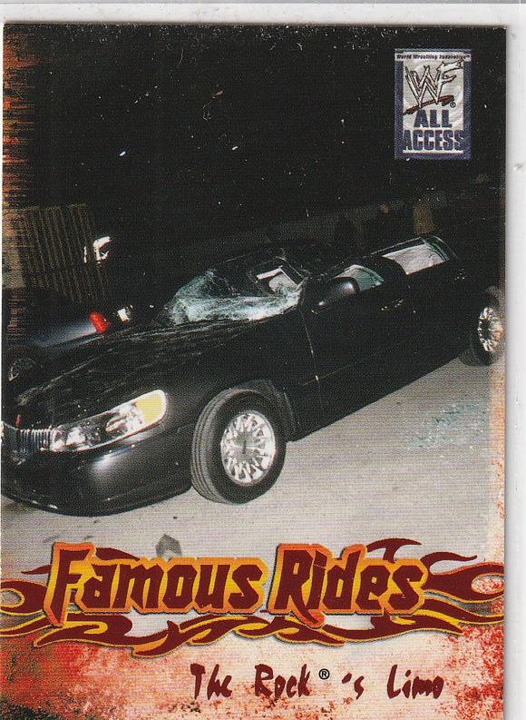 2002 Fleer WWF All Access 3 Famous Rides card 3 of 12 FR The Rock's Limo