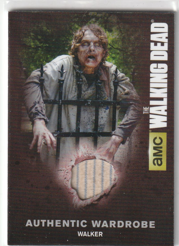 Walking Dead Season 4 Authentic Wardrobe Relic card M20 Walker