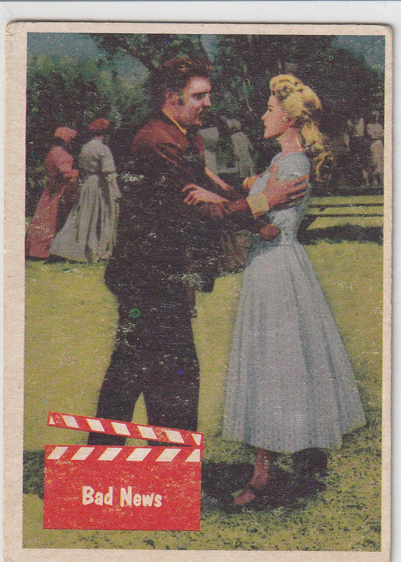 1956 Topps / Bubbles Inc Elvis Presley card #56 Bad News