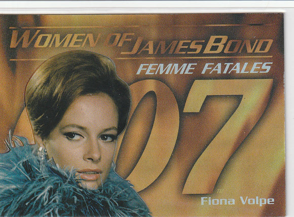 Women of James Bond In Motion Femmes Fatales card F2 Fiona Volpe