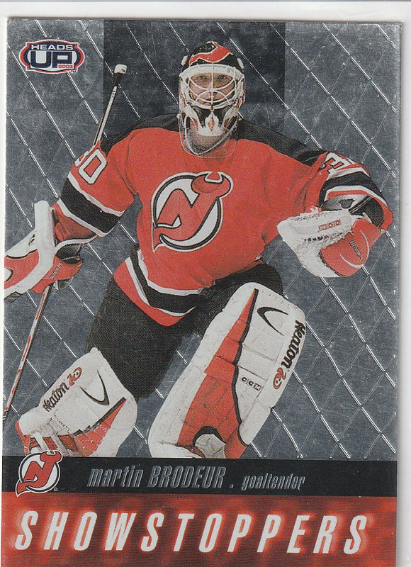 Martin Brodeur 2002-03 Pacific Heads Up Showstoppers card #13