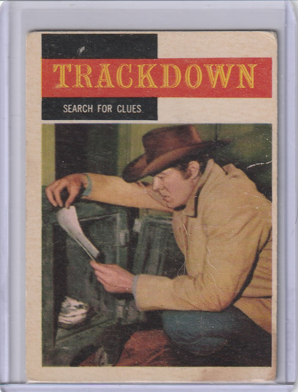 1958 Topps TV Westerns card #17 Trackdown - Search For Clues