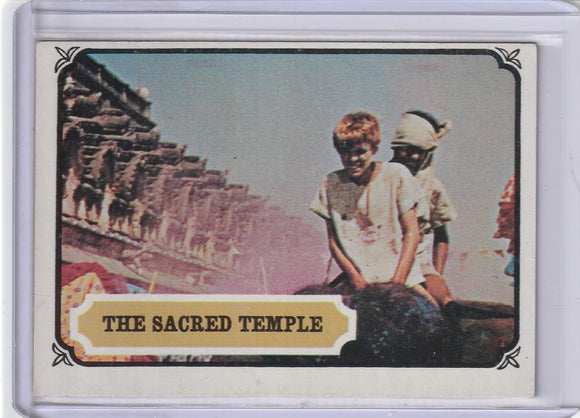 1967 Topps Maya Mysteries of India card #23 The Sacred Temple