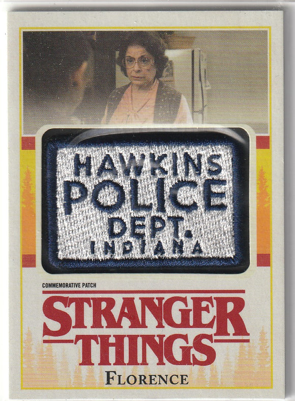 Stranger Things Season 1 Florence Commemorative Patch card P-FL