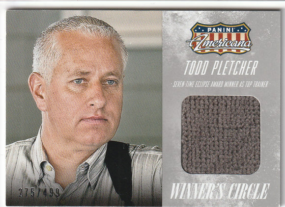 Todd Pletcher 2015 Americana Winner's Circle Material card WM-TP 275/499