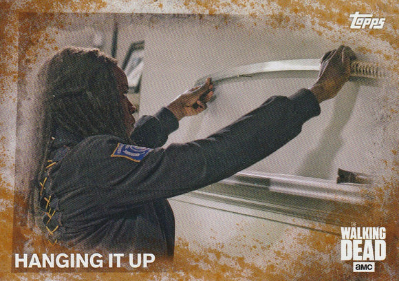2016 Topps Walking Dead Season 5 card #77 Hanging It Up Rust #d 09/99