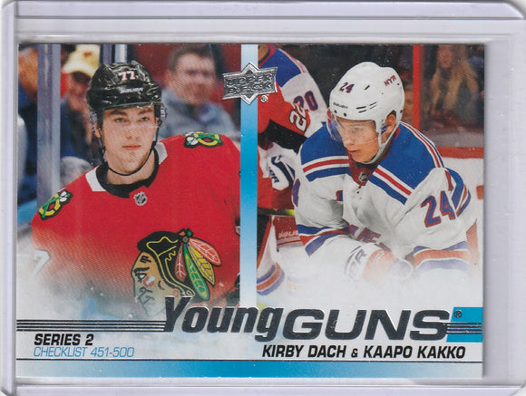 Kirby Dach Kaapo Kakko 2019-20 Upper Deck Young Guns Rookie Checklist #500