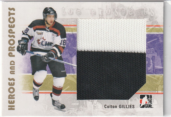 Colton Gillies 2007-08 ITG Heroes and Prospects Top Prospects Jersey card #132