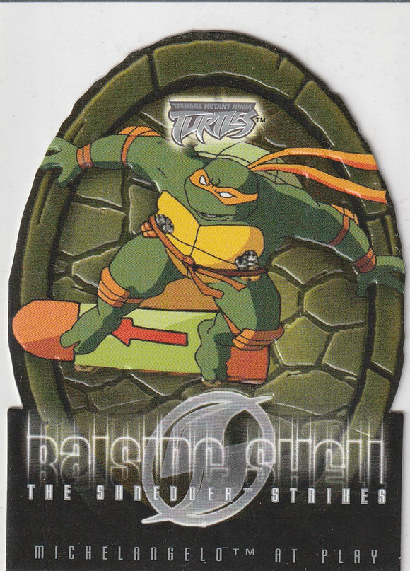 Teenage Mutant Ninja Turtles 2 The Shredder Strikes Raising Shell card 6 of 10 RS