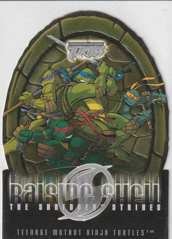 Teenage Mutant Ninja Turtles 2 The Shredder Strikes Raising Shell card 10 of 10 RS