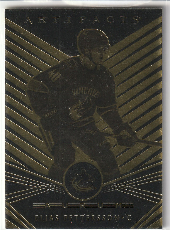Elias Pettersson 2019-20 Artifacts Aurum card A-14
