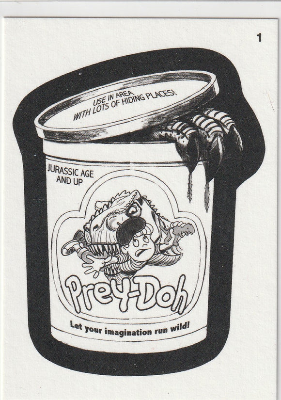 2013 Topps Wacky Packages Coloring Card #1 Prey-Doh