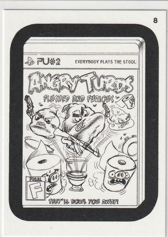 2013 Topps Wacky Packages Coloring Card #8 Angry Turds