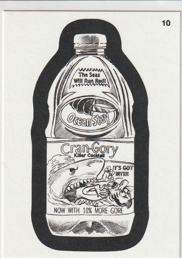 2013 Topps Wacky Packages Coloring Card #10 Oceanslay Cran-Gory