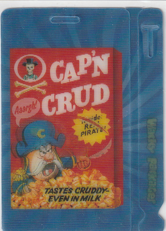 2011 Topps Wacky Packages Motion Bag Tag #4 Cap'n Crud Lenticular