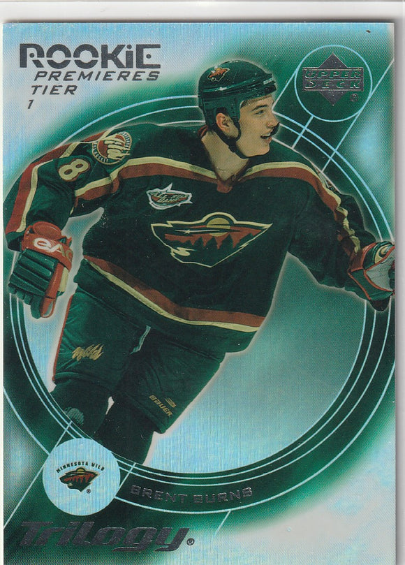 Brent Burns 2003-04 Trilogy Rookie Premieres card #153 #d 031/999