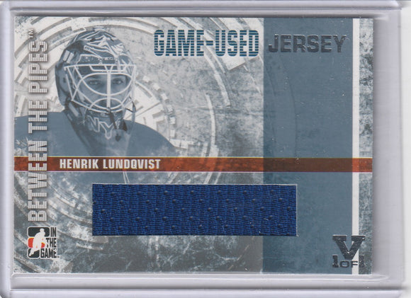 Henrik Lundqvist Final Vault 2006-07 Between The Pipes Jersey GUJ-03 V 1/1