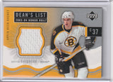 Patrice Bergeron 2003-04 Honor Roll Dean's List Rookie Jersey card #180