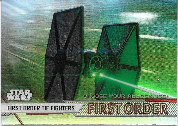 2020 Star Wars Chrome Perspectives Choose Your Allegiance First Order CF-9