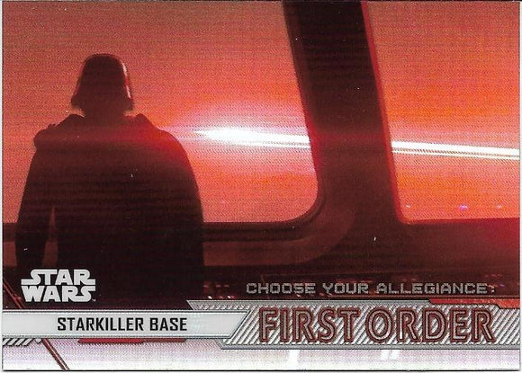 2020 Star Wars Chrome Perspectives Choose Your Allegiance First Order CF-4