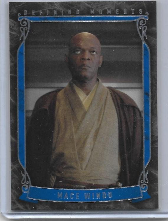 2015 Star Wars Masterwork Defining Moments card DM-9 Mace Windu