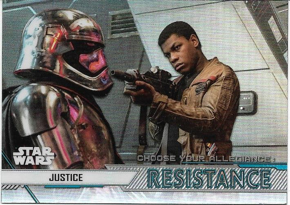 2020 Star Wars Chrome Perspectives Choose Your Allegiance Resistance CR-3