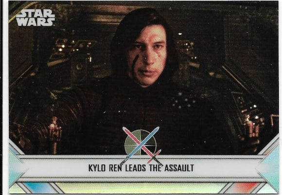 2020 Star Wars Chrome Perspectives Empire At War card EW-10 Kylo Ren Leads