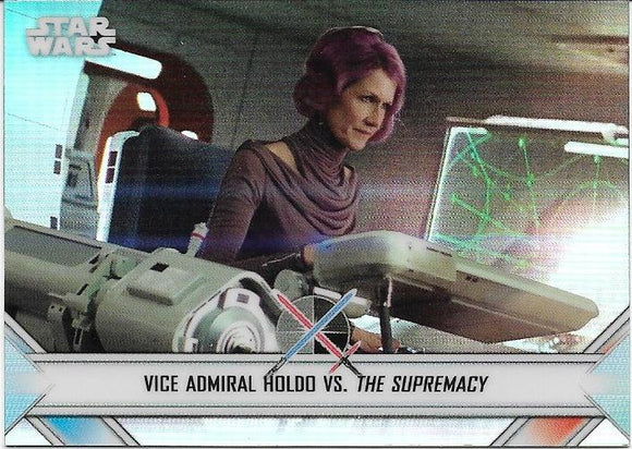 2020 Star Wars Chrome Perspectives Empire At War card EW-12 Holdo Vs