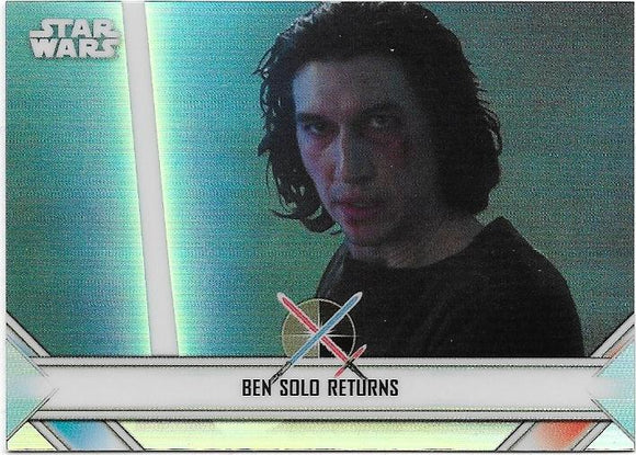 2020 Star Wars Chrome Perspectives Empire At War card EW-20 Ben Solo Returns