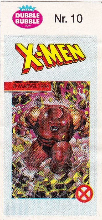 1994 Marvel Dubble Bubble Gum X-Men Stickers sticker # 10 Juggernaut