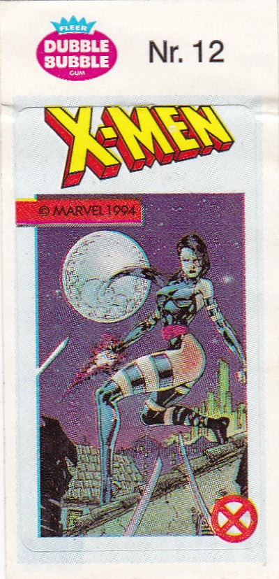 1994 Marvel Dubble Bubble Gum X-Men Stickers sticker # 12 Psylocke
