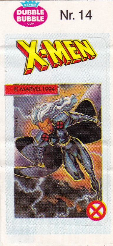 1994 Marvel Dubble Bubble Gum X-Men Stickers sticker # 14 Storm