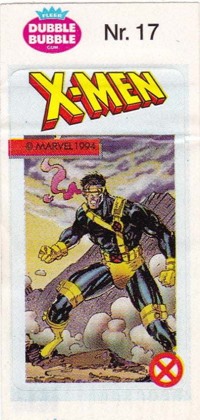 1994 Marvel Dubble Bubble Gum X-Men Stickers sticker # 17 Cyclops