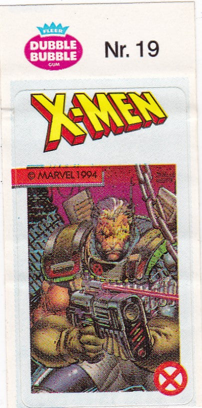 1994 Marvel Dubble Bubble Gum X-Men Stickers sticker # 19 Cable