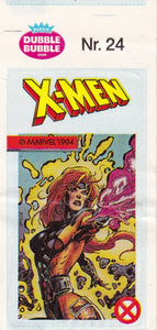 1994 Marvel Dubble Bubble Gum X-Men Stickers sticker # 24 Jean Grey