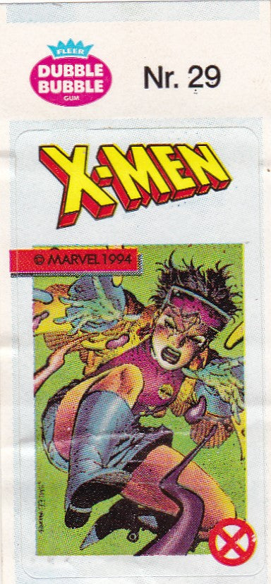 1994 Marvel Dubble Bubble Gum X-Men Stickers sticker # 29 Jubilee