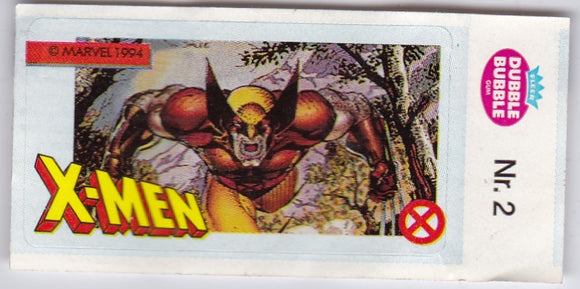 1994 Marvel Dubble Bubble Gum X-Men Stickers sticker # 2 Wolverine